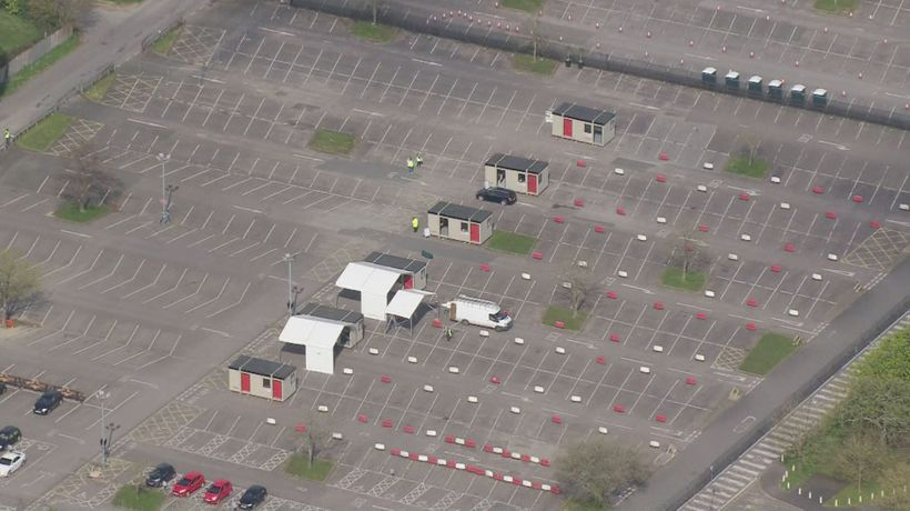 Coronavirus testing begins at empty Chessington car park