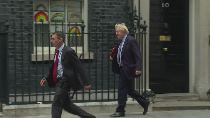 PM departs Downing Street for PMQs