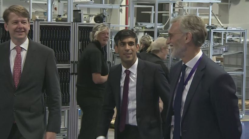 Sunak visits a factory in the West Midlands