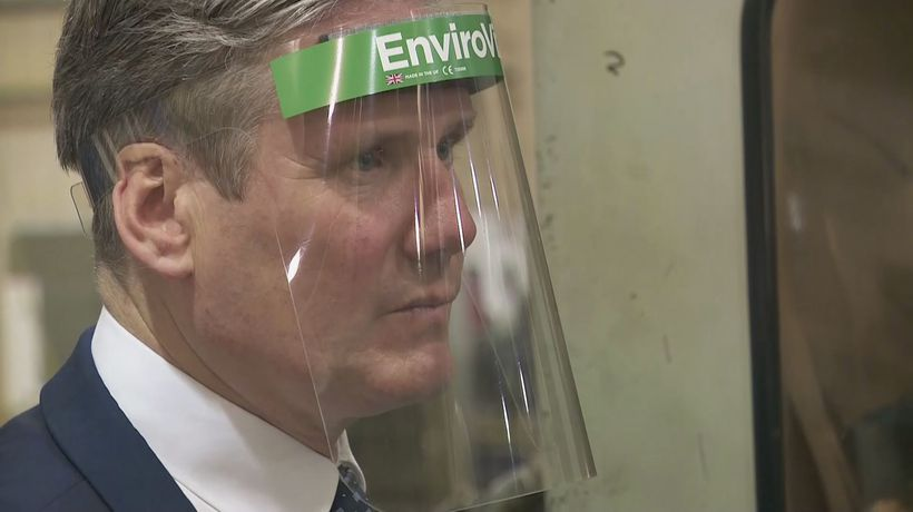 Keir Starmer visits an engineering firm in Essex