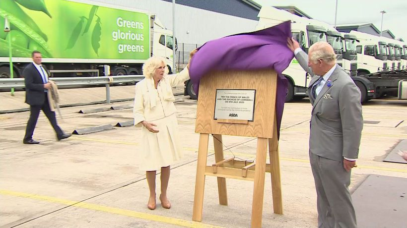 Prince Charles and Camilla meet Asda employees in Bristol
