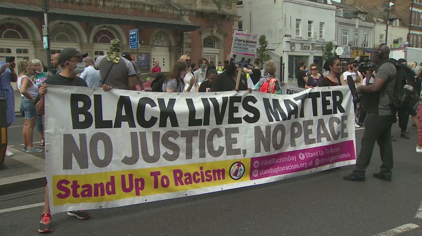 Black Lives Matter Protest takes to the streets of Tottenham