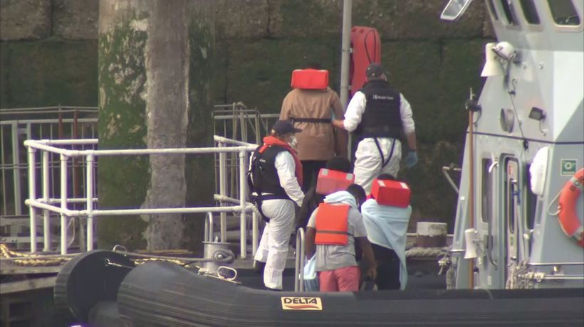 Migrants detained in Dover after boat stopped in Channel