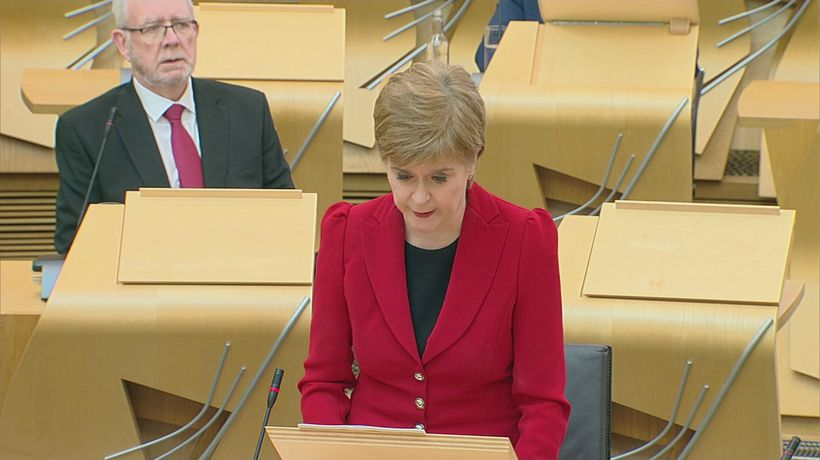 Nicola Sturgeon updates MSPs on train derailment