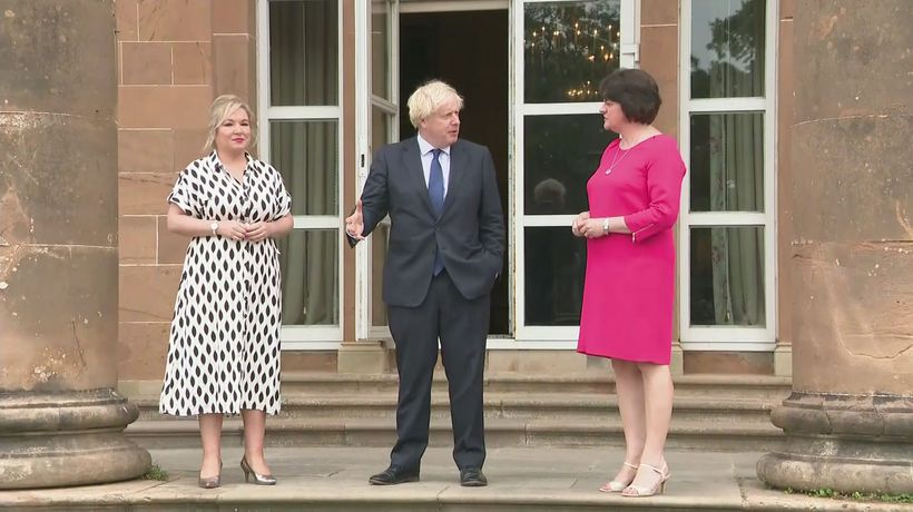 PM meets Foster and O'Neill in Northern Ireland