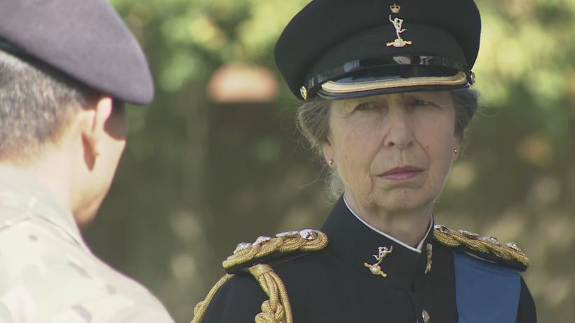 Princess Anne visits Gurkha regiment