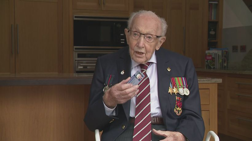 Captain Sir Tom Moore given first ever Veterans' Railcard