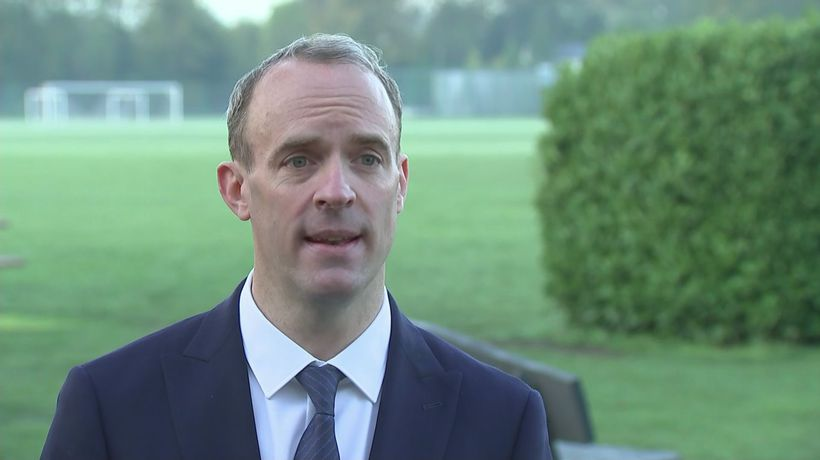 Raab: UK surprised and disappointed after EU Brexit tone