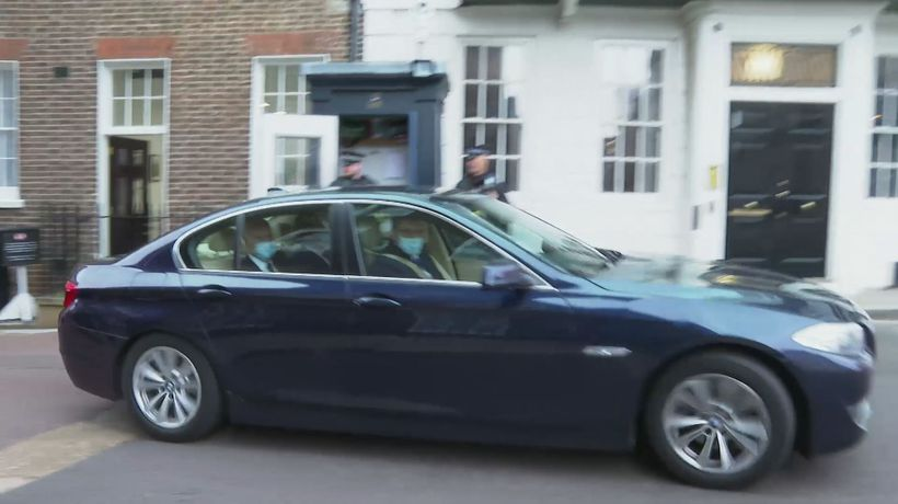 Michael Gove departs after meeting with Maros Sefcovic