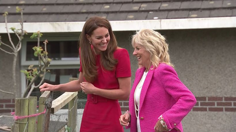 Kate visits school in Cornwall with US First Lady