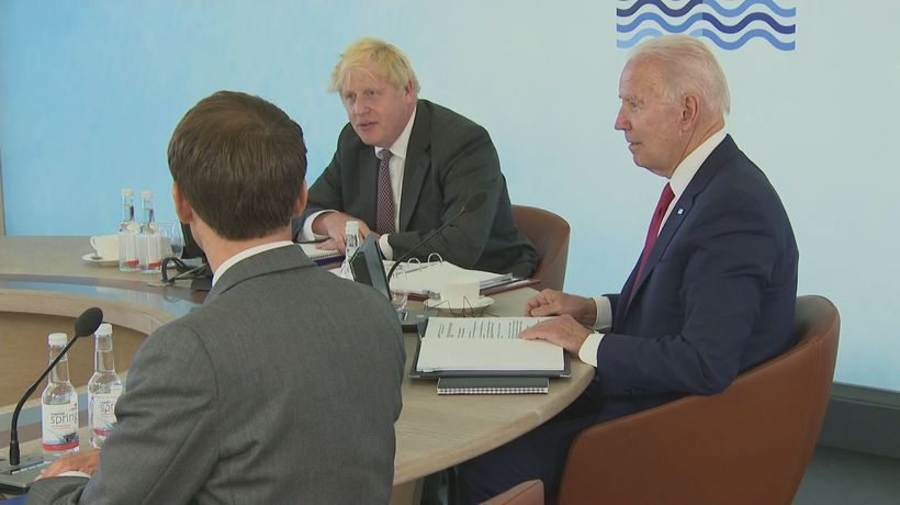 Boris Johnson welcomes leader to expanded G7 sesssion
