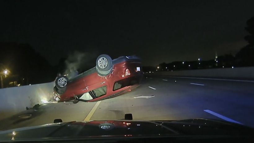 Pregnant woman sues US police officer for flipping her car