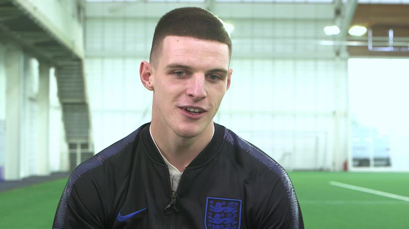 Declan Rice's first impression of England call up
