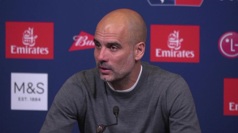 """Pep gives all credit to players. """"We try to help t"""