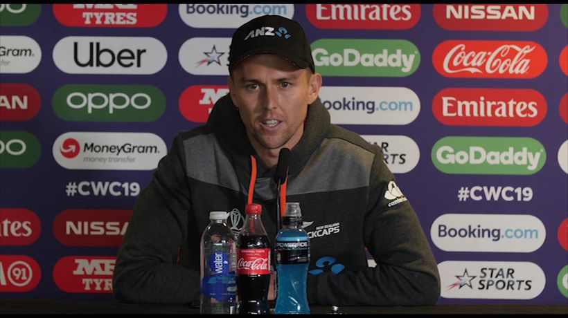 New Zealand's Trent Boult pre South Africa