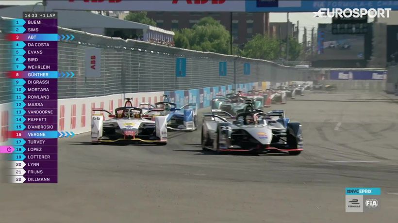 Highlights from Formula EPrix in New York (Race 1)