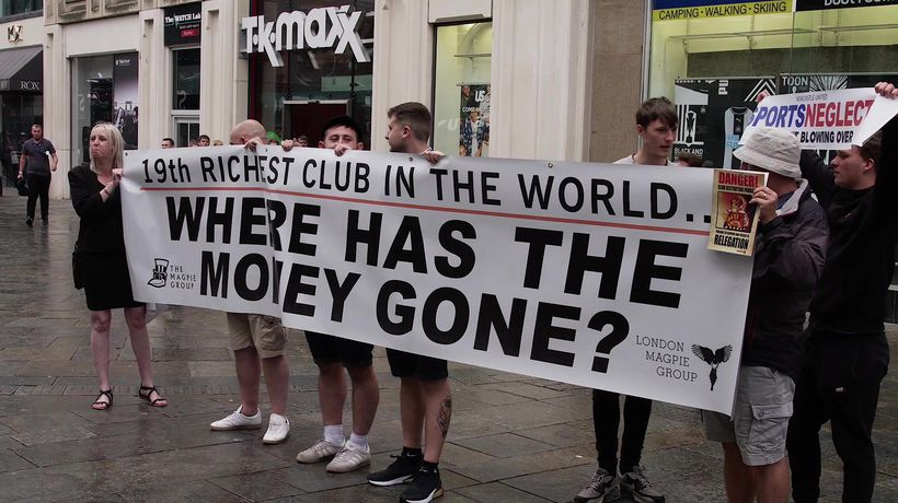 Newcastle fans protest against their owner