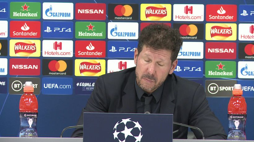 Atletico Madrid's Simeone post Liverpool win