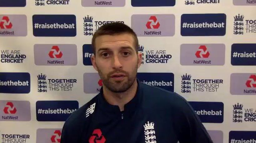 England's Mark wood on west indies test day 2