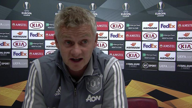 Manchester United's Solskjaer post win v LASK