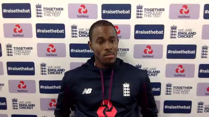 England's Jofra Archer post day 2 of 1st Test