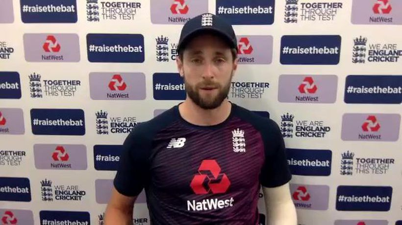 England's Chris Woakes post day 3 of 1st Test