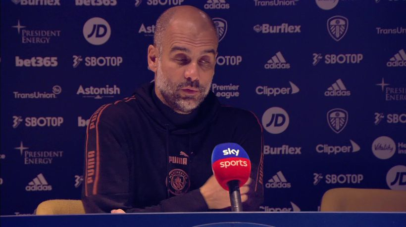 Guardiola on City's 1-1 draw Leeds