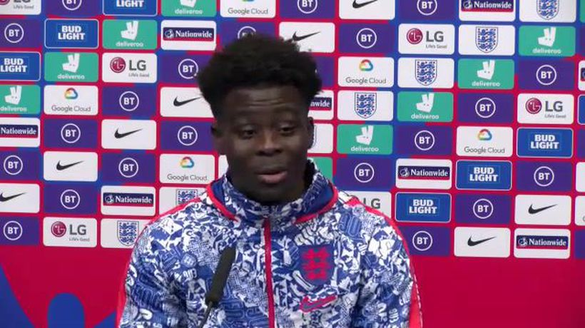 Arsenal's Bukayo Saka on his England debut