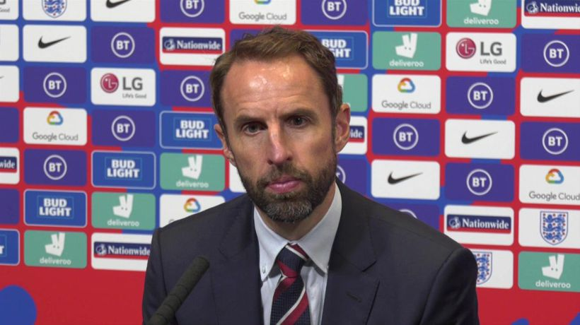 England's Southgate post Denmark defeat