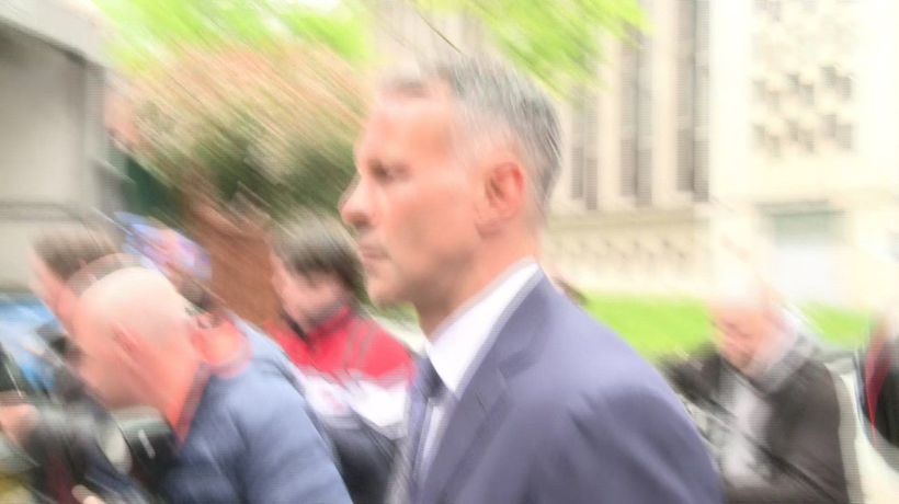 Giggs leaving Manchester Crown Court