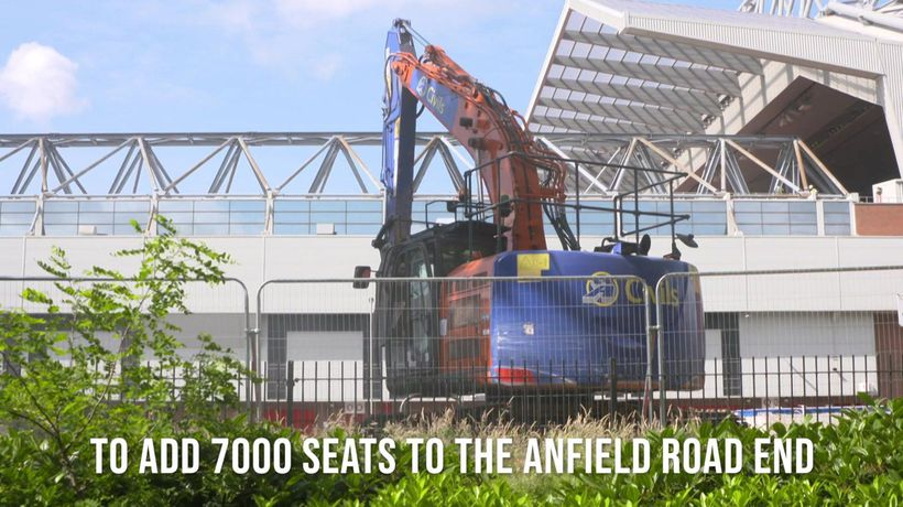 Liverpool Anfield Road Expansion starts