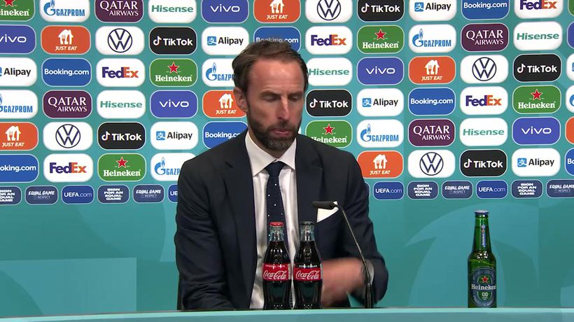 England's Southgate post final defeat to Italy