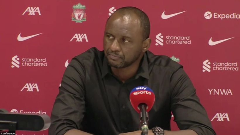 Veira frustrated after 3-0 liverpool loss