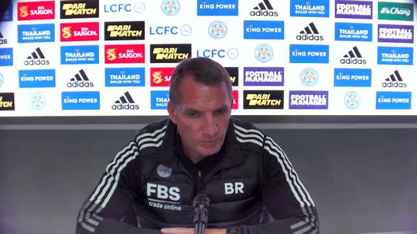 Rodgers on facing difficult Manchester Utd