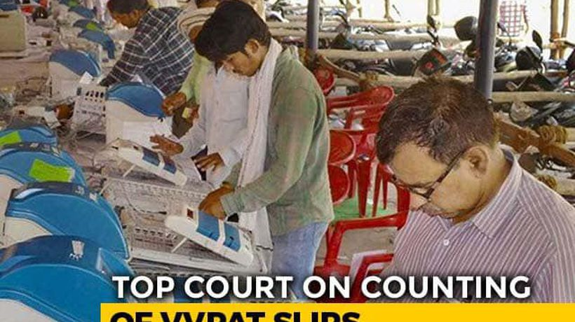 """Nonsense"": Top Court Rejects Request On Counting Of 100% VVPATs"