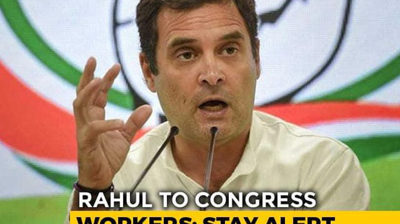 """Don't Be Afraid"": Rahul Gandhi's Message To Party On ""Fake Exit Polls"""