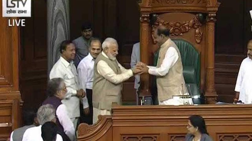 BJP's Om Birla Elected Lok Sabha Speaker, PM Modi Escorts Him To Chair