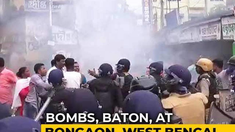 BJP, Trinamool Supporters Clash In Bengal's Bongaon; Bombs Thrown In Front Of Cops