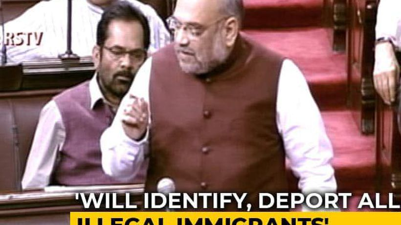 """Illegal Immigrants Living On Every Inch Will Be Deported"": Amit Shah"