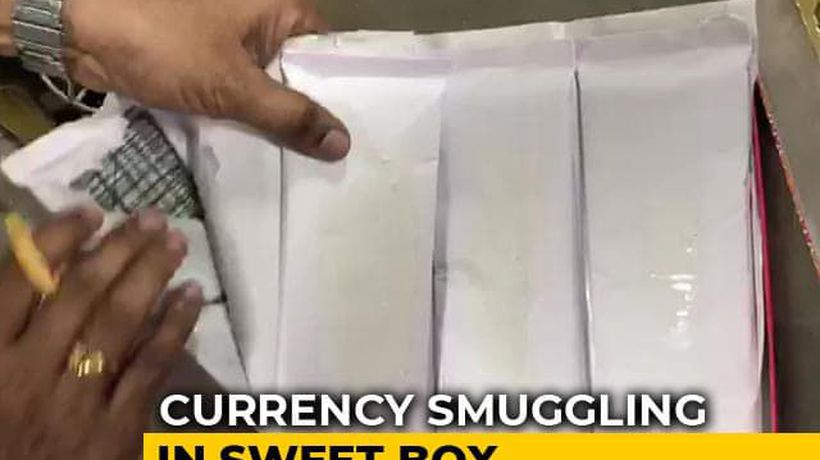3 Crores In Saudi Currency Found Hidden In Sweet Box At Hyderabad Airport