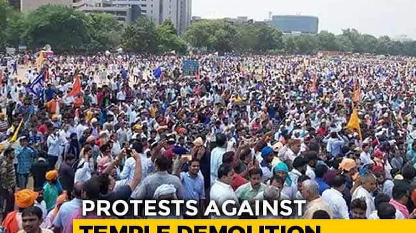 Thousands Of Dalits In Delhi Protest Against Ravidas Temple Demolition
