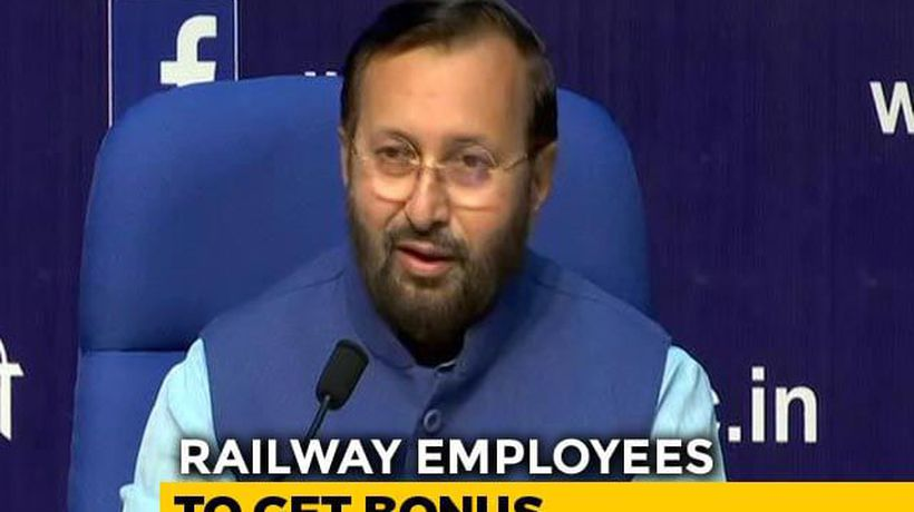 Cabinet Approves Bonus For Railway Employees: Prakash Javadekar