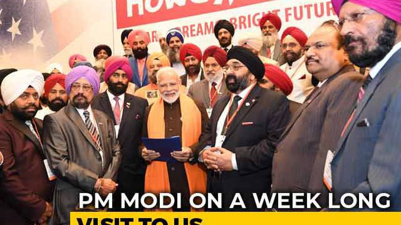 PM Modi Meets Sikhs, Bohra And Kashmiri Pandit Communities In Houston