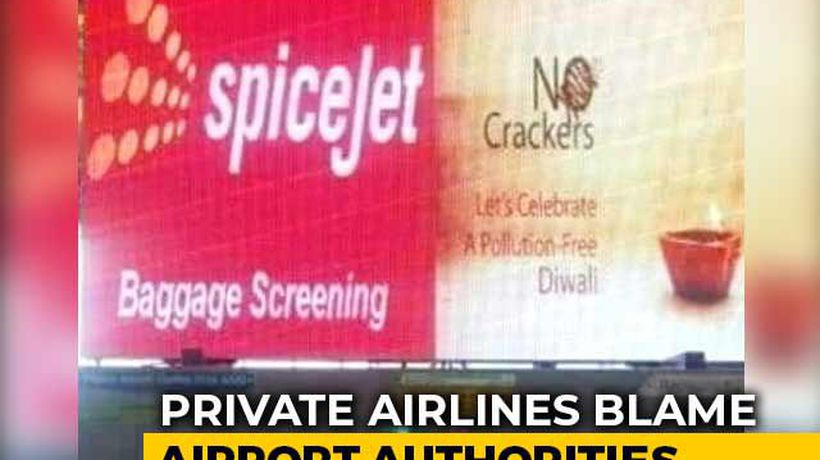 "Madurai Airport ""Mess-Up"" Triggers SpiceJet-Firecracker Company Spat"