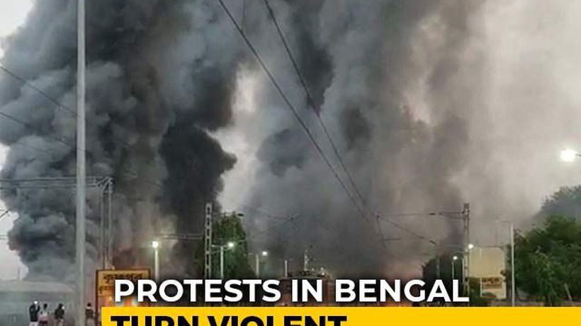 5 Empty Trains Set On Fire In Bengal Amid Protests Over Citizenship Act
