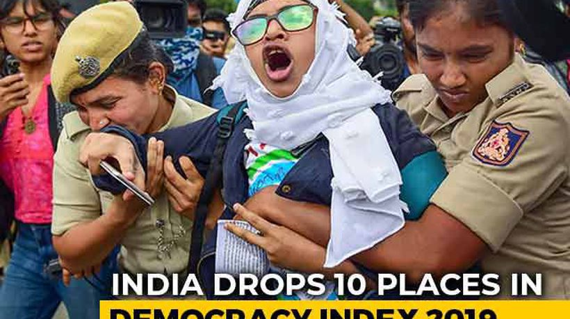 """""""Erosion Of Liberties"""": India Slips 10 Places In Democracy Index 2019"""