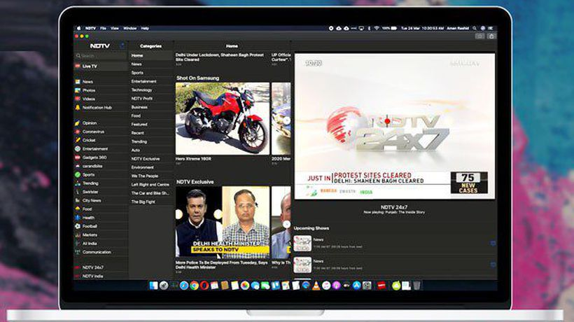 NDTV App Now Available For Mac Users-First News App From India