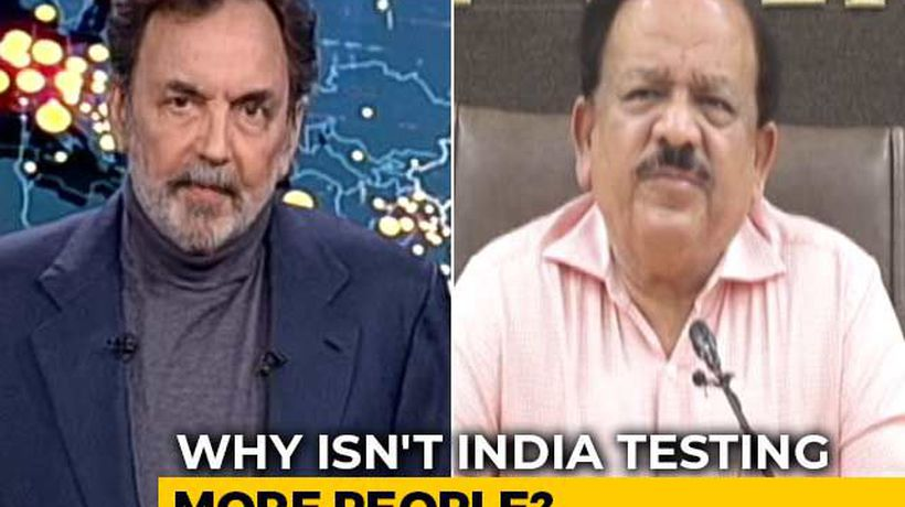 Why Isn't India Testing More People For Coronavirus? Health Minister Answers