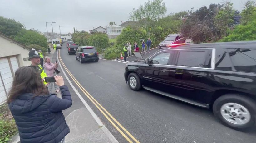 Residents React As G-7 Leaders Gather In Southwest England Village