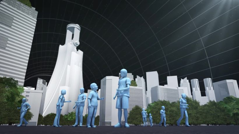 Jeff Bezos unveils space colony vision